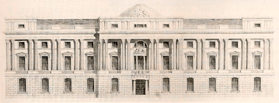 Robert Abraham's design for the College of Arms in Trafalgar Square