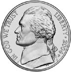 United States nickel obverse