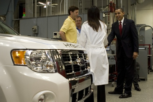 Barack Obama at Edison Electric Vehicle Technical Center 3-19-09