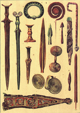 Bronze age weapons Romania
