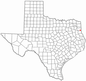 Location of Elysian Fields, Texas