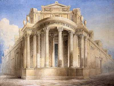 Bank of England (soane) - North West Angle by JM Gandy