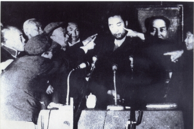 Panchen Lama during the struggle (thamzing) session 1964