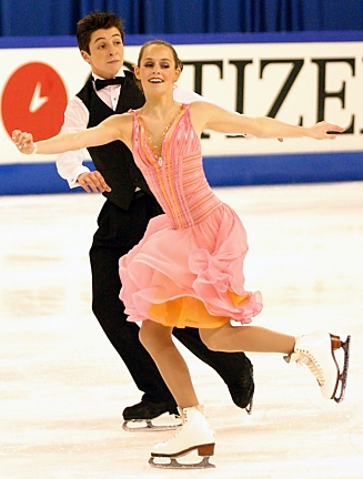 Tessa Virtue and Scott Moir at the Junior Worlds in 2005