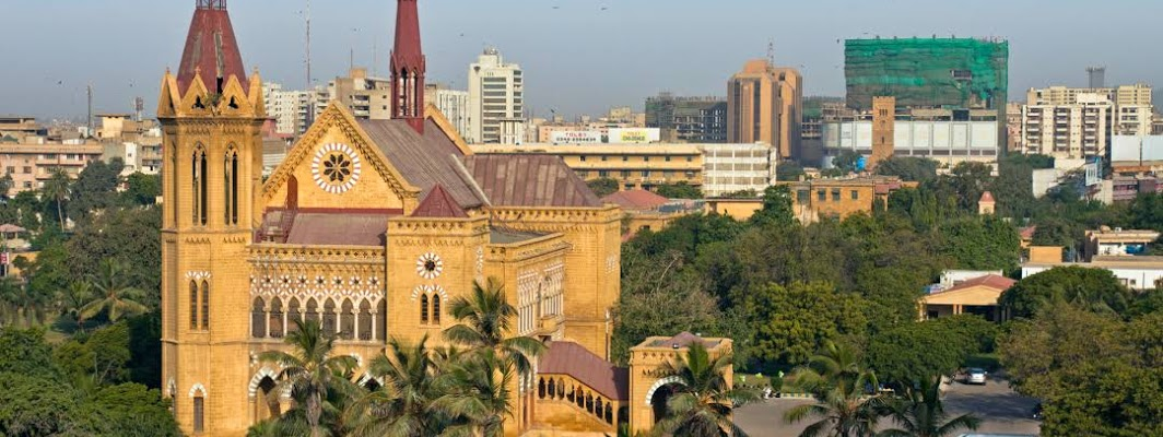 View of Frere Hall, Karachi