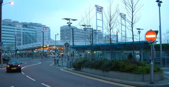 East Croydon Railway Station - England - Station Frontage - Evening - 270404