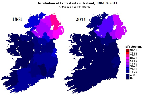 Ireland Protestants 1861-2011