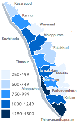 Kerala density map1