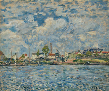 Sisley la seine au point du jour 1877