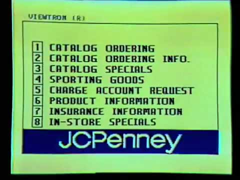 Viewtron JC Penney catalog screen