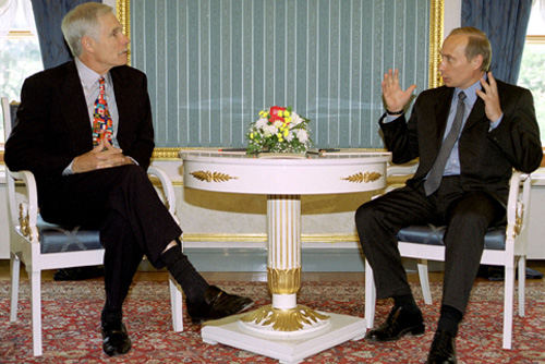 Vladimir Putin with Ted Turner-1