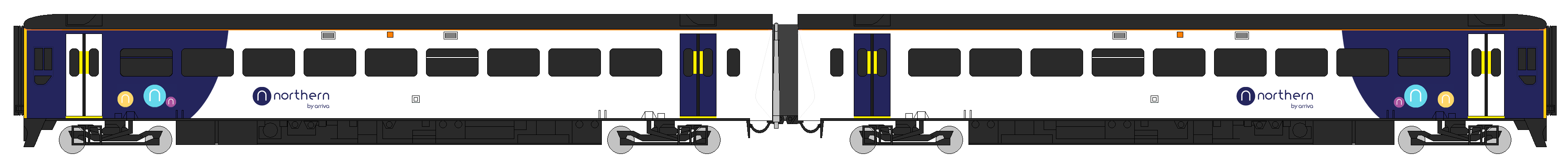 Class 158 Arriva Northern 2 Car