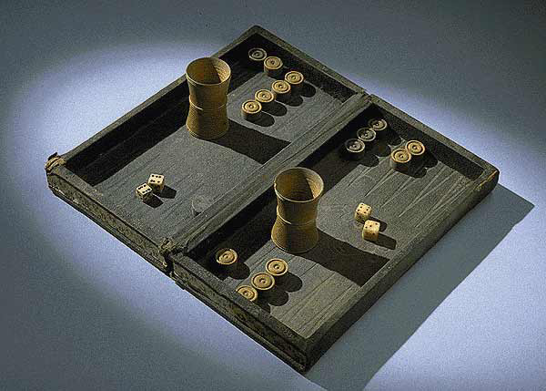 Backgammon-set from American civil war
