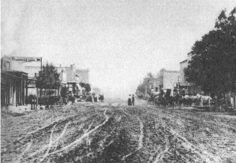 Downtown San Bernardino in 1864