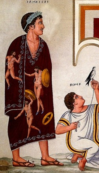 Contemporary portrayal of a toga picta