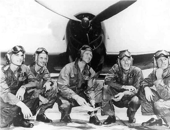 Voris and 1st Blue Angel team 1946