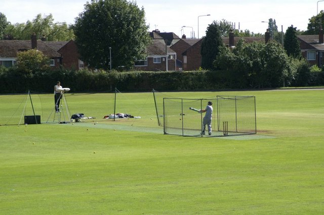 Batting practice at Maghull Cricket Club - geograph.org.uk - 491923