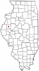 Location of Macomb, Illinois