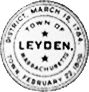 Official seal of Leyden, Massachusetts