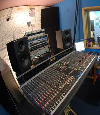 Allen & Heath GS3000 mixing console in The Furnace residential recording studio