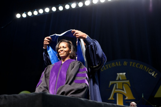 Michelle Obama at NCA&T Commencement In 2012