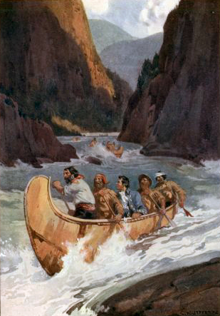 Descent of Fraser River 1808