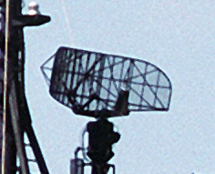 SPS-10 radar antenna on a Knox class frigate