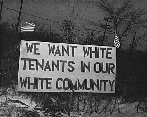 We want white tenants