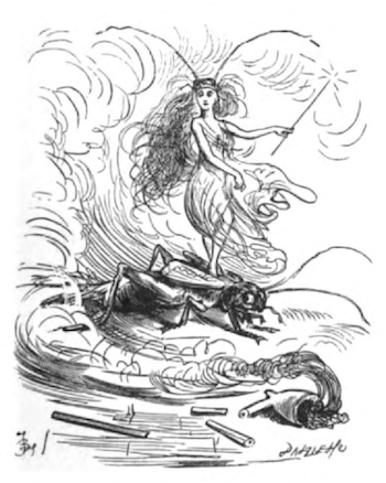 Illustration for Charles Dickens's Cricket on the Hearth by Fred Barnard