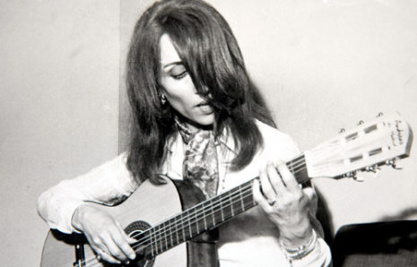 Fairuz playing the guitar