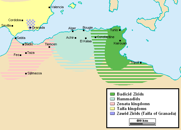 Zirids after Hammadid secession