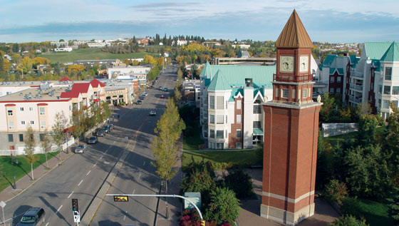 Downtown clocktower St. Albert Alberta
