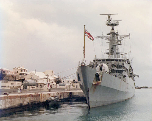 HMS Ambuscade in Bermuda
