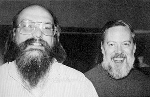 Ken Thompson and Dennis Ritchie--1973