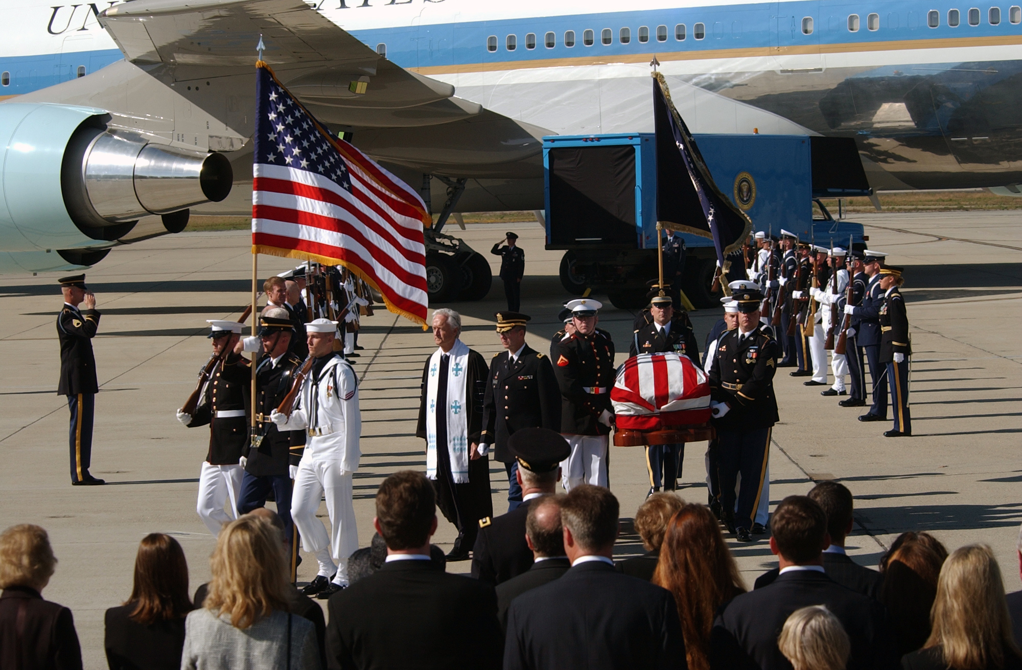 REAGANFUNERAL-casket carried to hearse