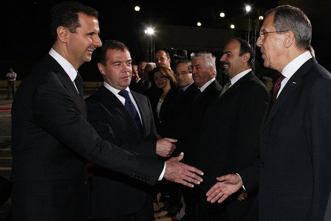 Dmitry Medvedev in Syria 10 May 2010-1