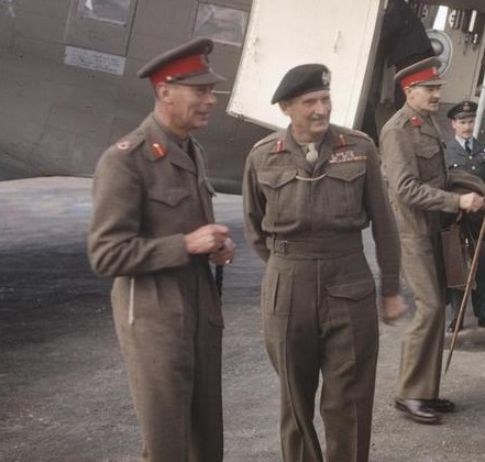 King George VI with Sir Bernard Montgomery
