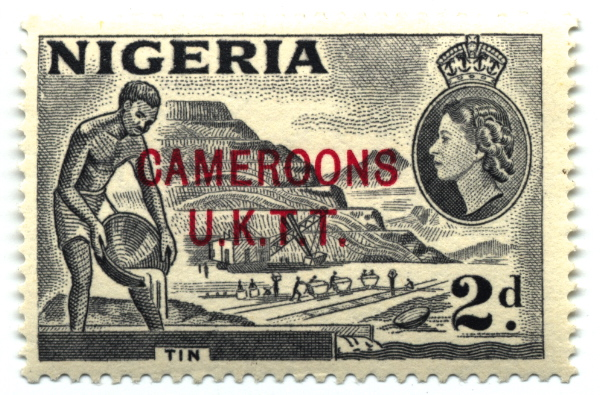Stamp Cameroons 2d-600px