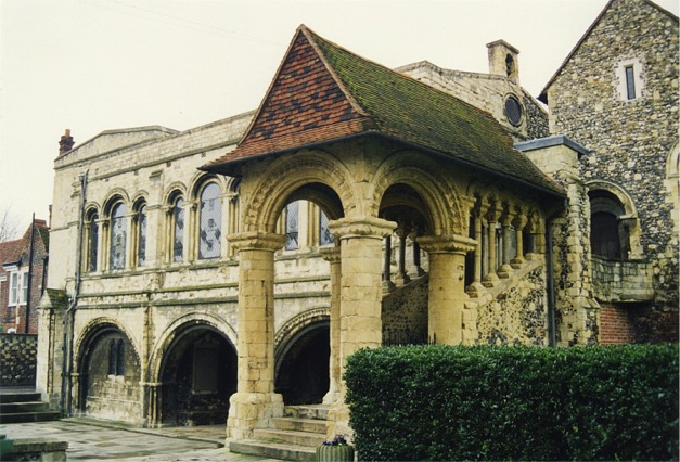 Norman staircase, King's School, Canterbury - geograph.org.uk - 343632