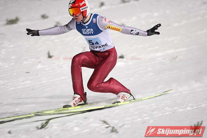 FIS Ski Jumping World Cup Zakopane 2013 - Kamil Stoch friday team telemark