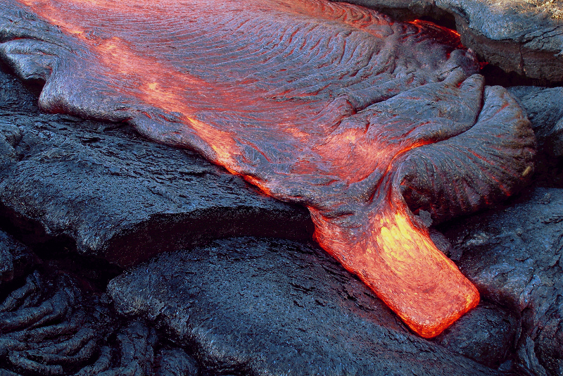 A204, Hawaii Volcanoes National Park, USA, new lava flow, 2007