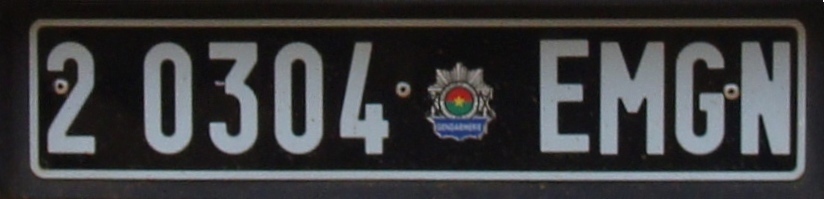 Burkina Faso Gendarmerie Staff Vehicle