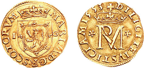 Mary of Scotland shilling 1553 692197