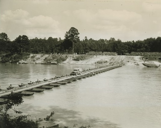 Infantry support bridge built by 549th Light Ponton Company