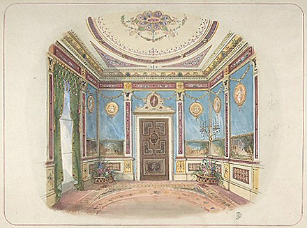 Design for a room by John Dibblee Crace