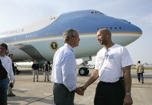 Hurricane Katrina President Bush with New Orleans Mayor