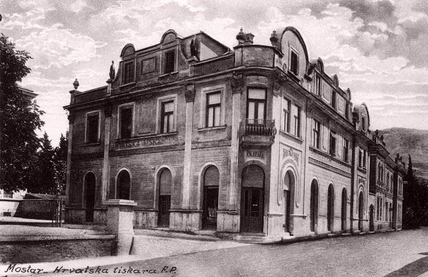 First Croatian printing office in Mostar, 1920