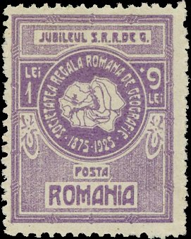 1927 Romanian stamp - Map-of-Romania