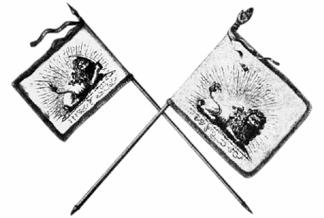 Iranian flag in the early 19th century