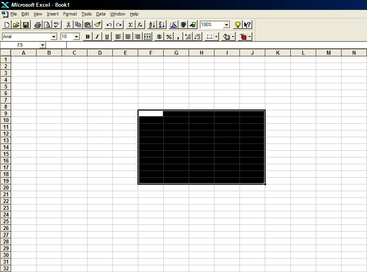 Screenshot of Microsoft Office Excel 95, an application part of Microsoft Office system